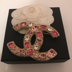 Chanel Pink Gem Brooch